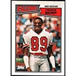 Football NFL 1987 Topps #252 Charlie Brown NM-MT+ Falcons