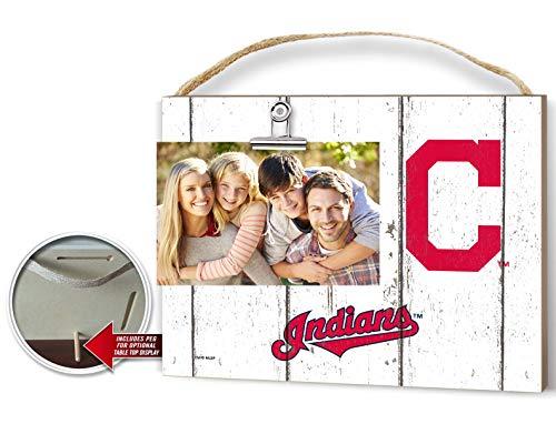 KH Sports Fan Clip It Weathered Logo Photo Frame (Clip It Weathered Logo Photo Frame Cleveland Indians) ()