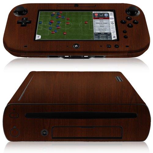 (Nintendo Wii-U Screen Protector + Dark Wood Full Body (Console + GamePad), Skinomi TechSkin Dark Wood Skin for Nintendo Wii-U with Anti-Bubble Clear Film Screen)