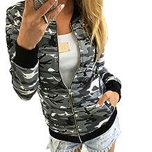 Susenstone Women Camouflage Jacket Coat Winter Street Jacket