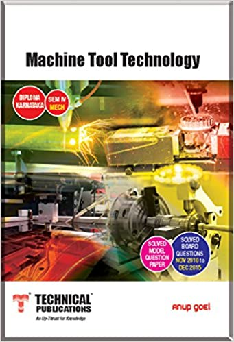 Buy Machine Tool Technology For Diploma Karnataka Sem Iv Mech