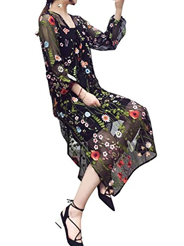 Glamaker Womens Floral Embroidery Sleeves product image