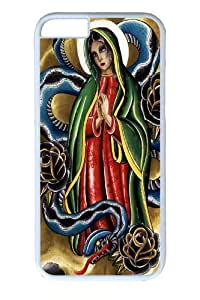 iphone 4 4s inch Case and Cover -La Virgen PC case Cover for iphone 4 4s and iphone 4 4s inch White