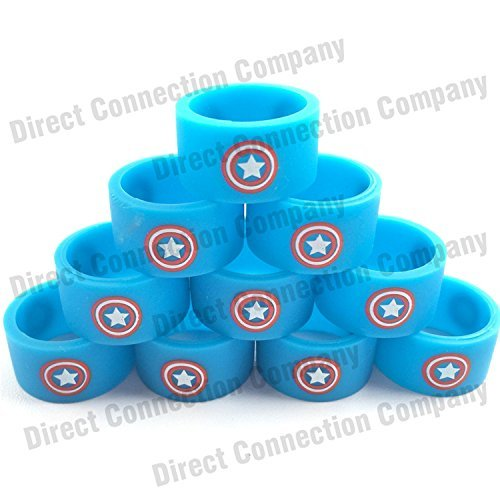0b5ee0b52d3a14 Image Unavailable. Image not available for. Color  Silicone Superhero Vape  Bands Tank Band ...