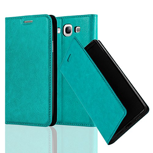 Cadorabo Book Case Works with Samsung Galaxy S3 / S3 NEO in Petrol Turquoise - with Magnetic Closure, Stand Function and Card Slot - Wallet Etui Cover Pouch PU Leather Flip (Galaxy S3 Flip Case Yellow)