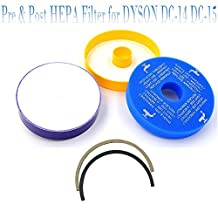 Seelong Pre & Post Motor HEPA Filter & Seals for Dyson DC14 DC-14 DC-15 Replaces part # 905401-01 & 901420-02