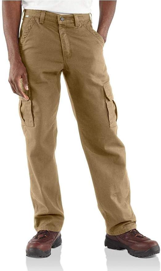 Full azul Big & Tall hombre Cargo pantalones 100% algodón