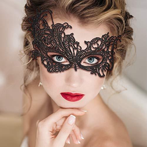 VGOODALL 12 STK. Venezianische Maske, Damen Spitze Augenmaske Geheimnisvolle Lace Maske für Halloween Party