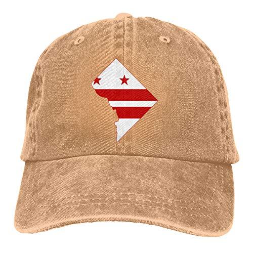 Flag Map of Washington Unisex Vintage Jeans Adjustable Baseball Caps ()