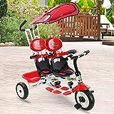 Costzon 4 in 1 Twins Kids Trike Baby Toddler
