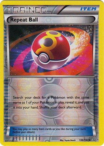 Pokemon - Repeat Ball (136/160) - XY Primal Clash - Reverse Holo (Pokemon Card Repeat Ball)