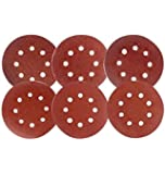 Coceca 60PCS 5 Inch Sanding Discs Sandpaper Assorted 60 80 120 180 240 320 Grits For Power Random Orbit Sanders