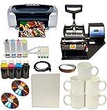 Mug Cup Heat Press Printer Kit Transfer Paper Start-up Bundle