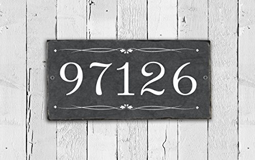 Handcrafted and Customizable Slate Home Address Number (Customizable Address Plaque)