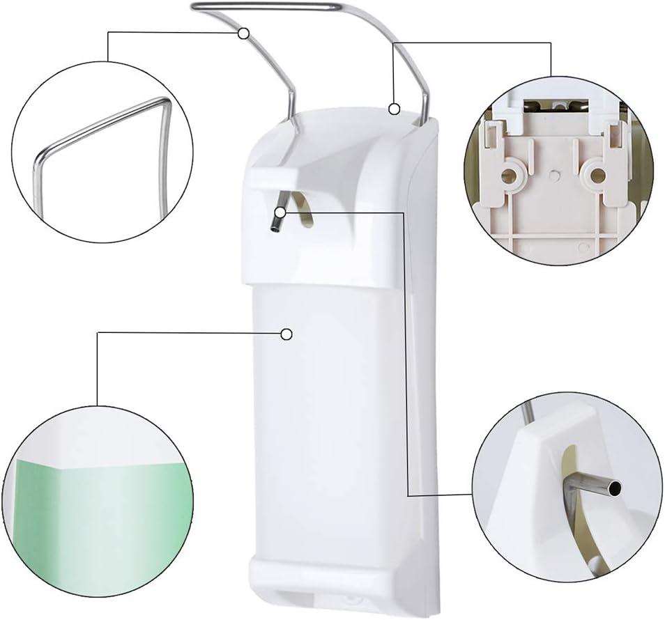 JUSTDOLIFE Dispensador de jab/ón Dispensador desinfectante desinfectante para Bomba de jab/ón montado en la Pared para el hogar