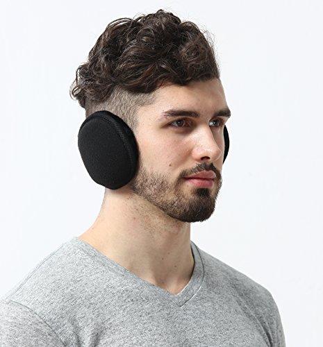 Fleece Ear Muffs - Ear Warmers - Behind the Head Style Earmuffs for Men & Women - Heated Ear Muffs