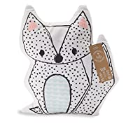 Lolli Living Fox Cushion. Girl, Baby, or Nursery Fox Pillow with Screen Printed Design (Sparrow Print).
