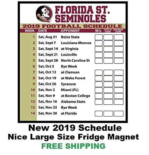 38c83fd5889 Amazon.com  2019 NCAA Florida State Seminoles Football Schedule ...