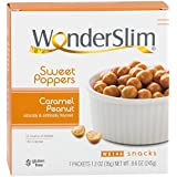 WonderSlim Weight Loss Meal Replacement Sweet Poppers Snacks - High Protein, Low Carb, Trans Fat Free, Gluten Free, Aspartame Free - Peanut Caramel - 1 Box (7ct)