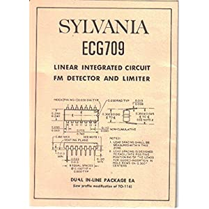 SYLVANIA ECG709 Linear Integrated Circuit FM Detector Limiter, Owner Manual Circuit Schematic