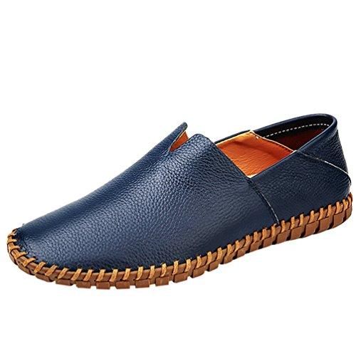 Cómodos Casual Loafer Hombre Planos Moda Mocasines Azul Zapatos Negocio Zapatos Dooxi EfZqxn1n