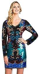 Multi Colour Sequined Short Dress