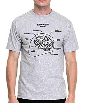 T-shirt homme gris, moto, motard - Cerveau du motard (plusieurs tailles) (XL) you-custom