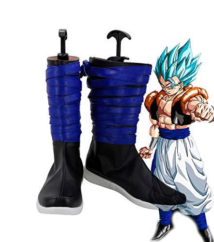 Telacos Dragon Ball GT Gogeta Cosplay Shoes Boots Custom Made ()