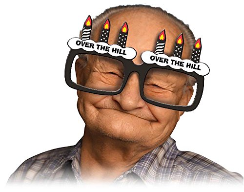 Over the Hill Birthday Glasses Frame