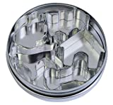 R&M International 1871 Mini Dog Cookie Cutters in Storage Tin, Paw, Dog, Fire Hydrant, Bone, House, 5-Piece Set