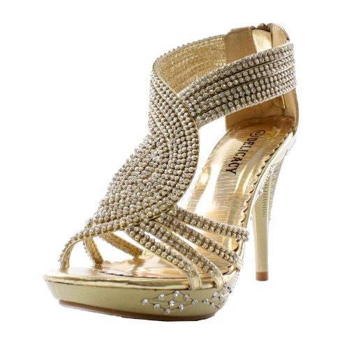Fabulous Delicacy-07 Sandals Gold Pu 8.5