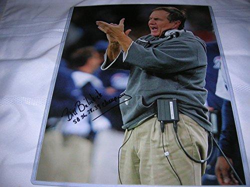 Bill Belichick Autographed Photo - HEAD COACH Since 2000 13 AFC EAST DIVISION TITLES WON 4 SUPER BOWLS 11x14 Color...