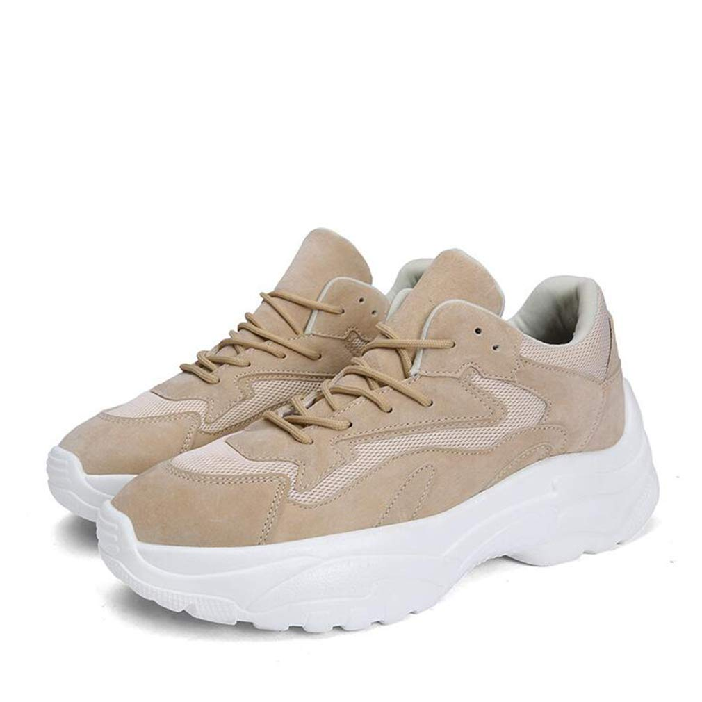 Hy Hy Hy Laufende Schuhe der Männer Frühlings-   Fall-Dicke untere Student-beiläufige Turnschuhe Trekking-Reise-Schuhe Radfahren Schuhe (Farbe   Aprikose Größe   40) 22b7d8