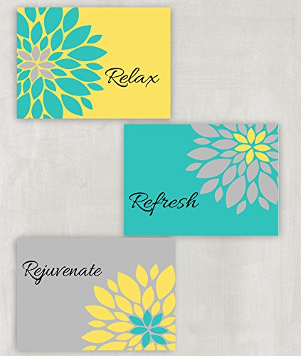 wall art in teal colors - 5