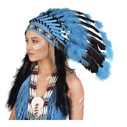 Unisex Native American Indian Tribal Headdress (Turquoise)