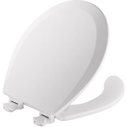 Elongated Open Front Toilet Seat.Mayfair Open Front Toilet Seat Will Never Loosen And Easily Remove Elongated Durable Enameled Wood White 1440ec