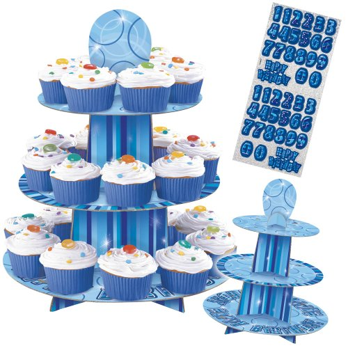 Customisable Glitz Blue Cupcake (Blue Cupcake Stand)