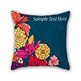 PILLO The flower pillow cases of ,18 x 18 inches / 45 by 45 cm decoration,gift for bar seat,office,play room,teens boys,floor,gf (twice sides)