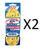 120 waxed ice hockey skate laces - New A&R 2 Pack USA Ice Hockey Striker Wax WAXED Molded Tip Skate Laces 72