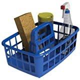 United Solutions CD0043 Blue Medium Multi-Purpose Utility Tote Caddy - Plastic Utility Carry Caddy in Blue