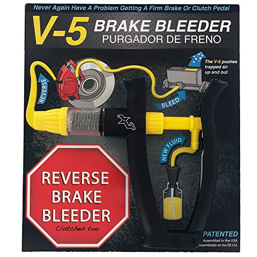 4-B) V-5 Reverse Brake Bleeder, Light Duty One Person, Fits all makes and models ()