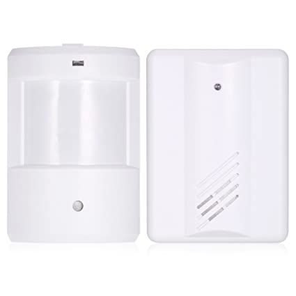 KKmoon Timbre Wireless Inalámbrico PIR Sensor de Movimiento Doorbell Rango de Transmisión Largo Volumen Ajustable