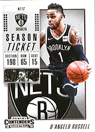 c22652724 2018-19 NBA Contenders Season Ticket  72 D Angelo Russell Brooklyn Nets  Official