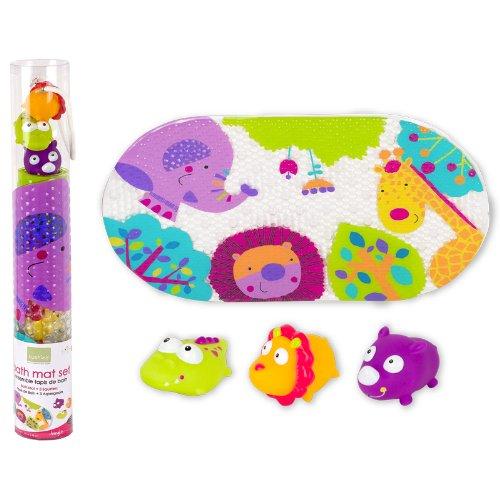 Kushies Baby 4 pièces Tapis de bain et Squirter Set, Jungle
