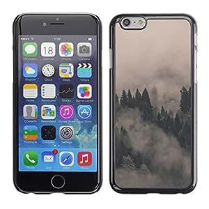 Apple (4.7 inches!!!) iPhone 6 , Radio-Star - Cáscara Funda Case Caso De Plástico (Misty Foggy Forrest)