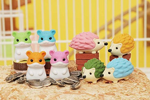 Iwako: Japanese Eraser / Animal / Panda & Hamster / 10PCS