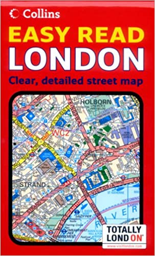 Easy London Map.London Easy Read Map Amazon Co Uk Not Known 9780007206339 Books