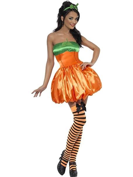 Disfraz Carnaval Disfraz Halloween Mujer Calabaza Smiffys * 11929 ...