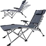 Yoler Sturdy Zero Gravity Lounge Chairs - Adjustable ArmRest Easy Open and Fold - Outdoor Portable Recliner Camping Beach Lounge Chaise