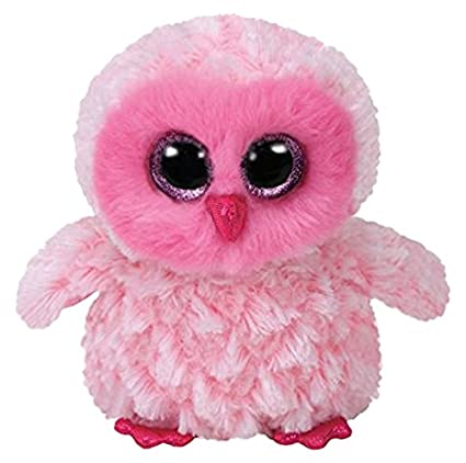 9fed1e5c6dd Amazon.com  TY Beanie Boos Twiggy - Pink Owl Reg Plush  Toys   Games